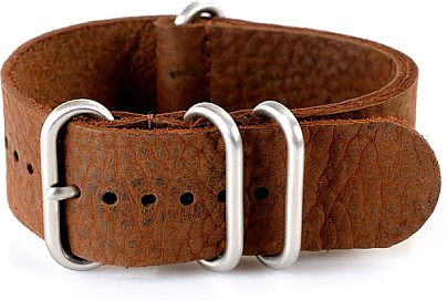 Watchband Leather Vintage Styl darkbrown