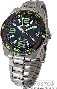 Vostok Breeze Automatic with Green Bezel and Strap