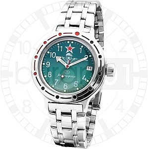 Vostok Automatic Paraszut Green with steel belt and nylon belt