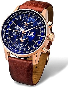 Vostok Europe World Timer Alarm Rosegold