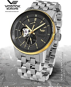 Vostok Europe GAZ-14 Automatic Open Balance black/gold silver