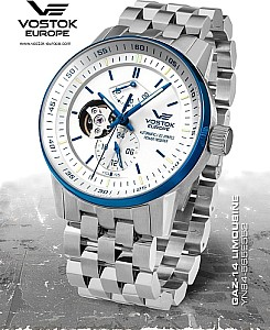 Vostok Europe GAZ-14 Automatic Open Balance silver blue
