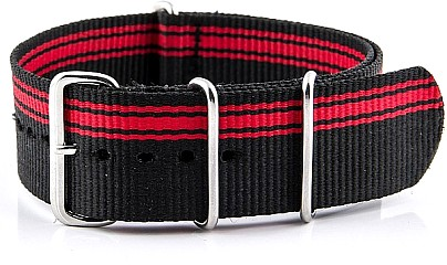 Watchband - Nylon Militäry - black-red V2