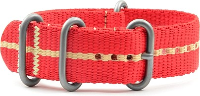 ZULU Watch Band Nylon red-beige