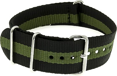 Nylon Watchband nylon military black- dark green