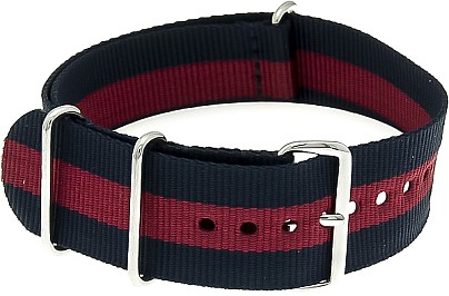 Nylon Watchband nylon military blue-burgundy