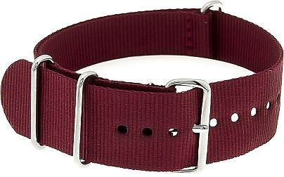 Nylon Watchband nylon military burgundy