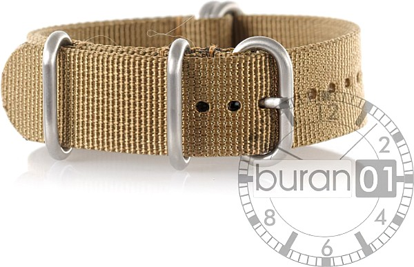 Zulu Straps - Nylon - brown extra strong