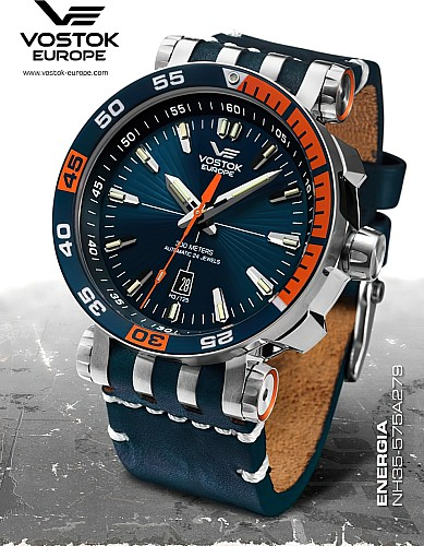 Vostok Europe Energia Rocket Automatic turquoise orange
