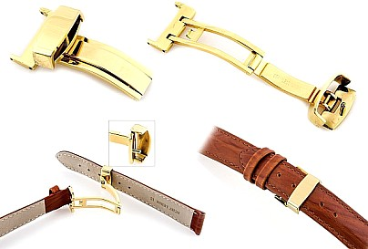 Claps for watchstraps gold