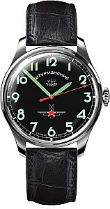 Sturmanskie Retro Gagarin Titanium black dial with Green Numbers