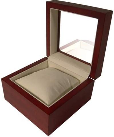 uhrenbox f r 1 uhr aus holz mit sichtfenster ebay. Black Bedroom Furniture Sets. Home Design Ideas