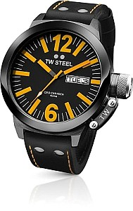 TW STEEL Ceo Canteen PVD black coated steel case - precision day /date movement