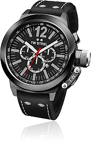 TW STEEL Ceo Canteen PVD black coated steel case - precision chrono movement