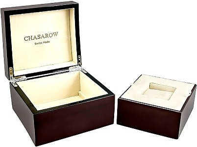 Chasarow Uhrenbox L watch box for 1 Watch wooden without key
