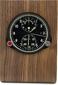 Buran01 Real wood holder for MIG clocks dark brown
