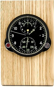Buran01 Real wood holder for MIG clocks light brown