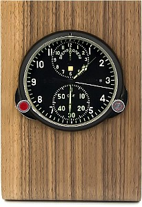 Buran01 Real wood holder for MIG clocks light and dark brown