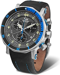 Vostok-Europe Lunokhod-2 Grand Chrono silver/blue