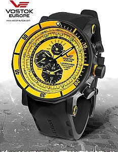 Vostok Europe Chronograph Lunokhod 2 Black / Yellow