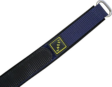 Watch Band Velcro SPORT  - Nylon - blau