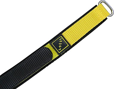 Watch Band Klettarmband Sport  - Nylon - gelb