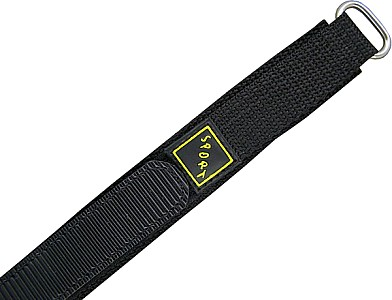 Watch Band Klettarmband Sport  - Nylon - schwarz