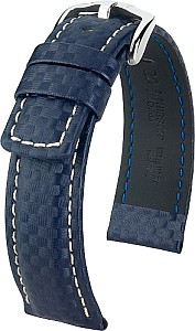 Watchband Hirsch calf leather with Carbon embossing
