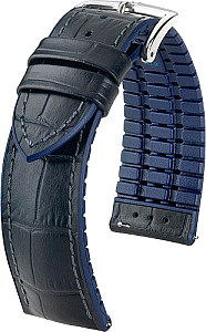 EXOTIC EMBOSSED LEATHER watch band and PREMIUM RUBBER