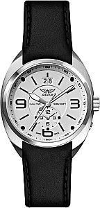 Aviator Swiss MIG 21 Fishbed Dual Time silver