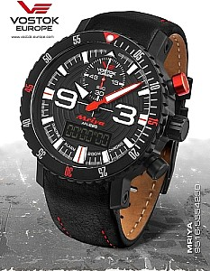 Vostok Europe Mriya Multifunctional Chronograph black/red