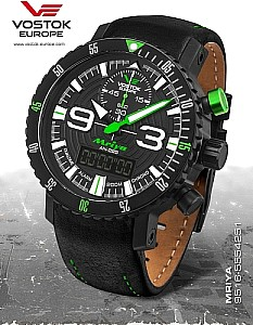 Vostok Europe Mriya Multifunctional Chronograph black/green