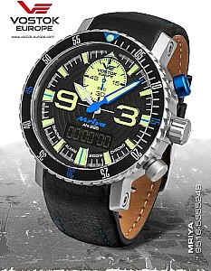 Vostok Europe Mriya Multifunctional Chronograph black/blue