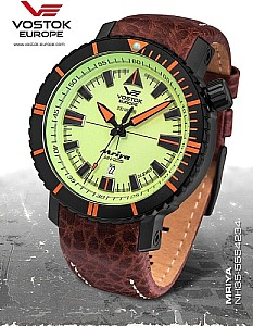 Vostok-Europe Mriya automatic orange / black incl. 2 Watch Bands