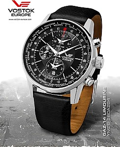 Vostok Europe World Timer Alarm mit Chronograph Funktion