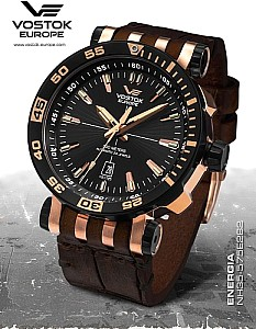Vostok Europe Energia Rocket stainless steel automatic black