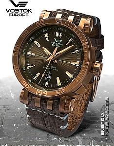 Vostok Europe Energia Rocket Bronze Automatic gold brown
