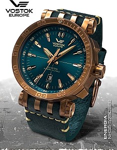 Vostok Europe Energia Rocket Bronze Automatic Turquoise blue